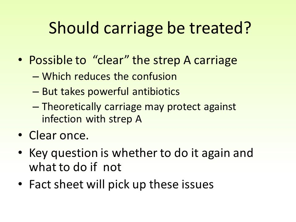 Should carriage be treated
