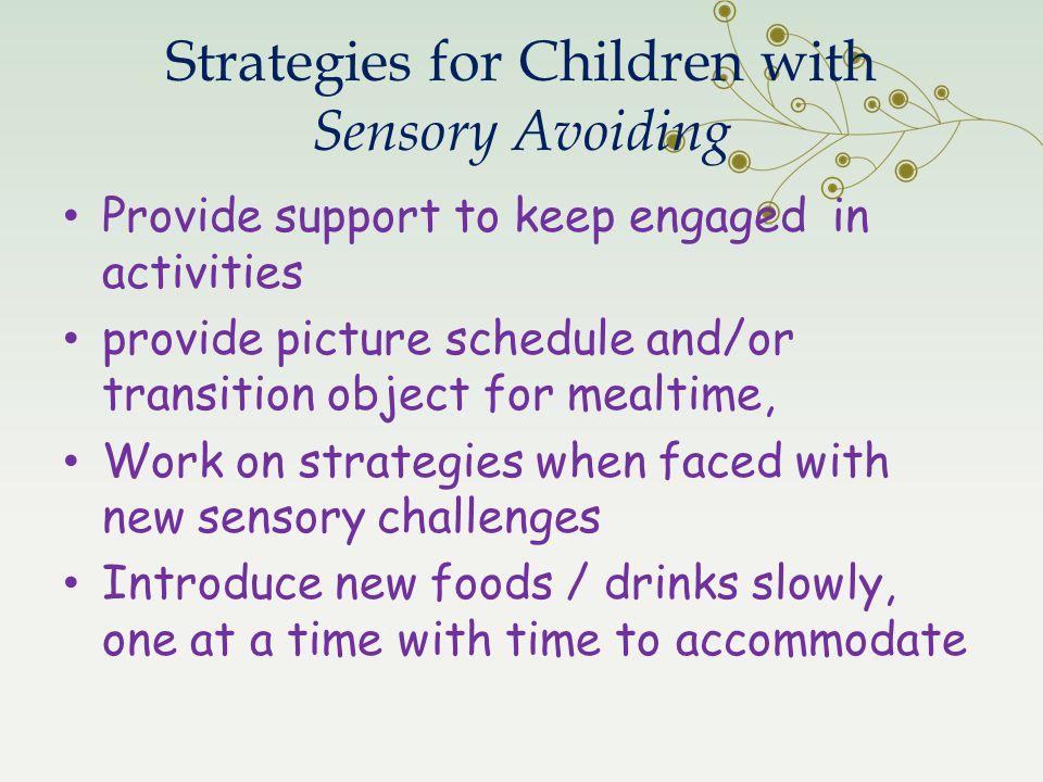 Strategies for Children with Sensory Avoiding