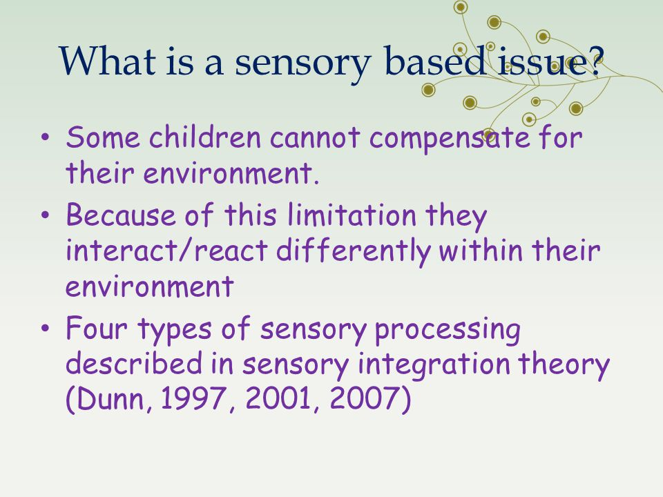 What is a sensory based issue