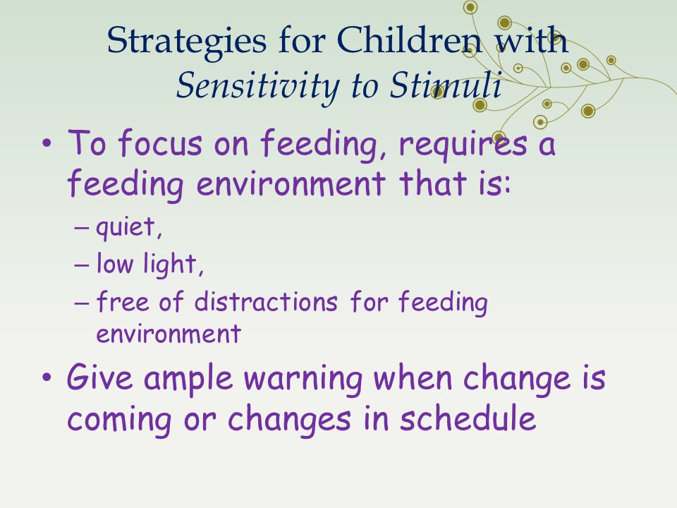 Strategies for Children with Sensitivity to Stimuli