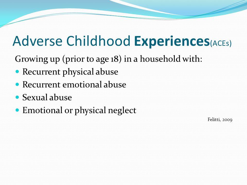 Adverse Childhood Experiences(ACEs)