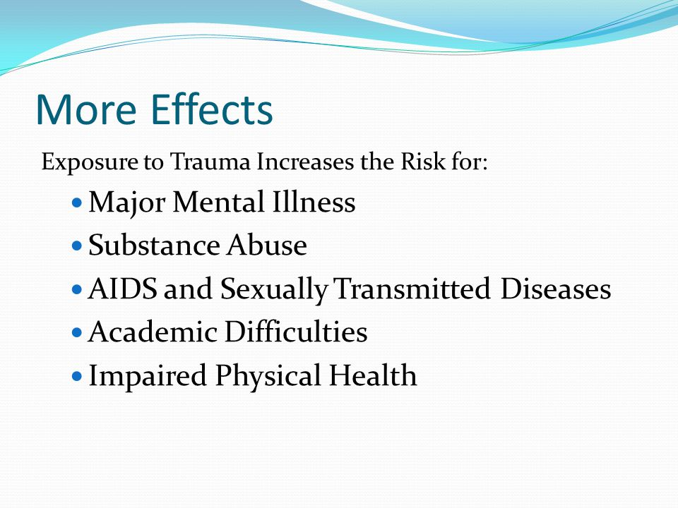 More Effects Major Mental Illness Substance Abuse
