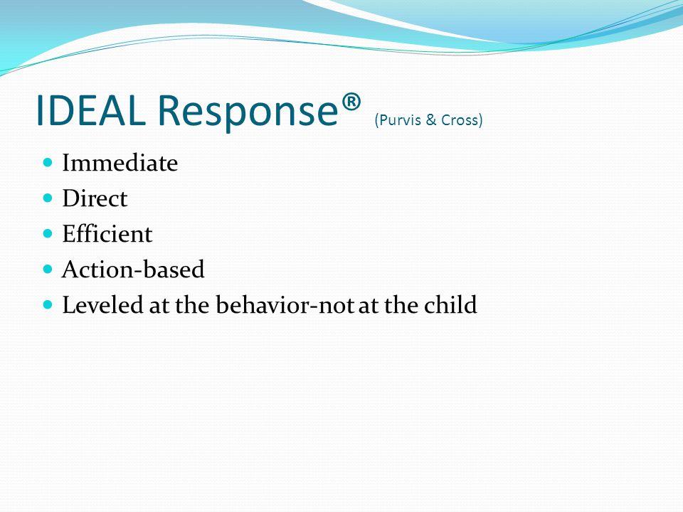 IDEAL Response® (Purvis & Cross)