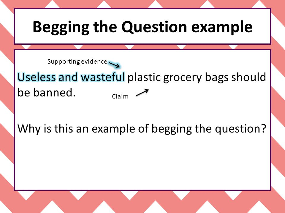 Examples Of Begging The Question Image Collections Example Cover