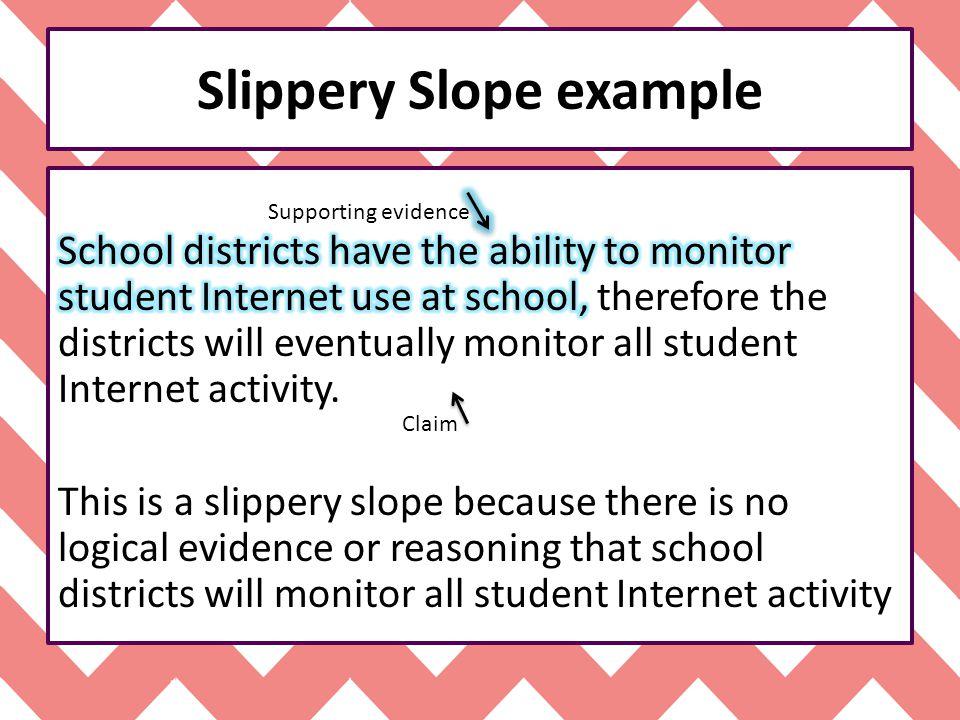 Slippery Slope example
