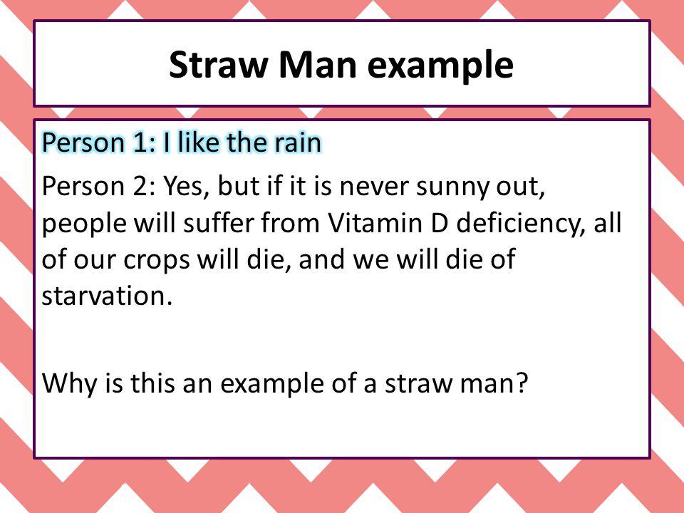 Straw Man example