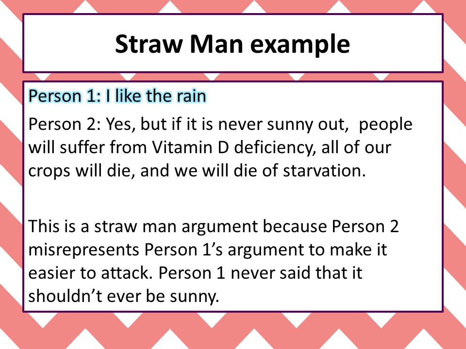 Straw man proposal