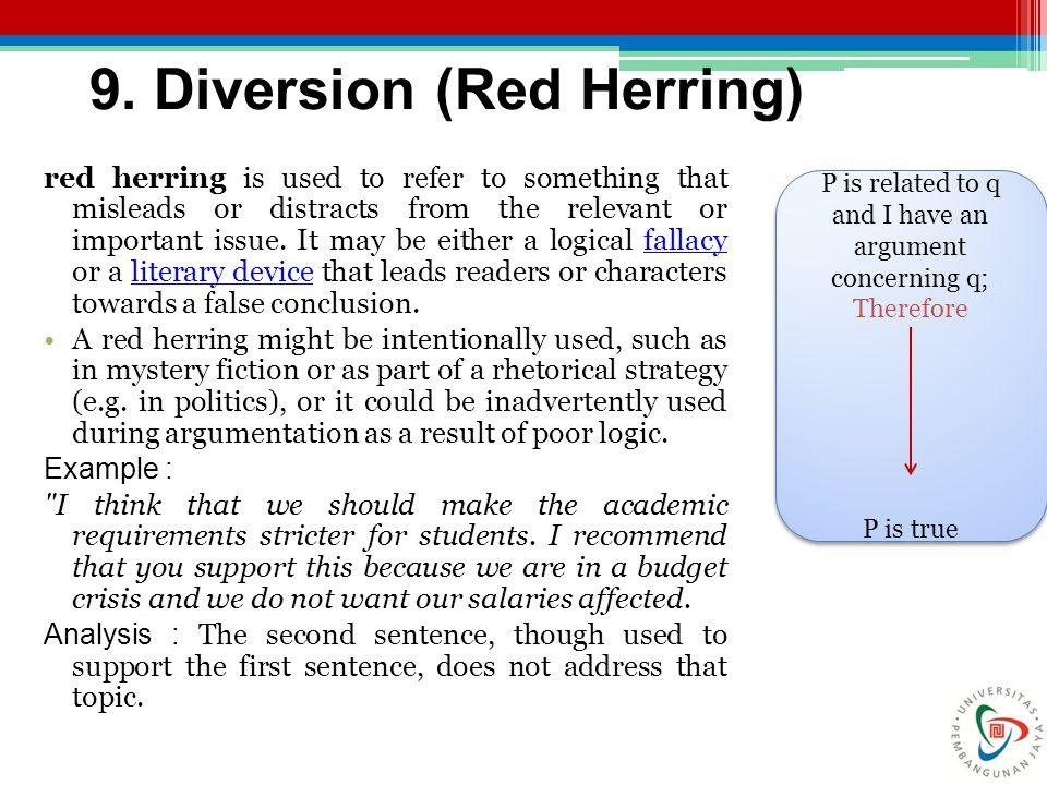 9. Diversion (Red Herring)