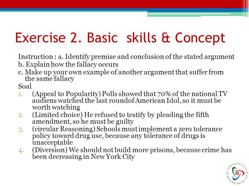 Exercise 2. Basic skills & Concept