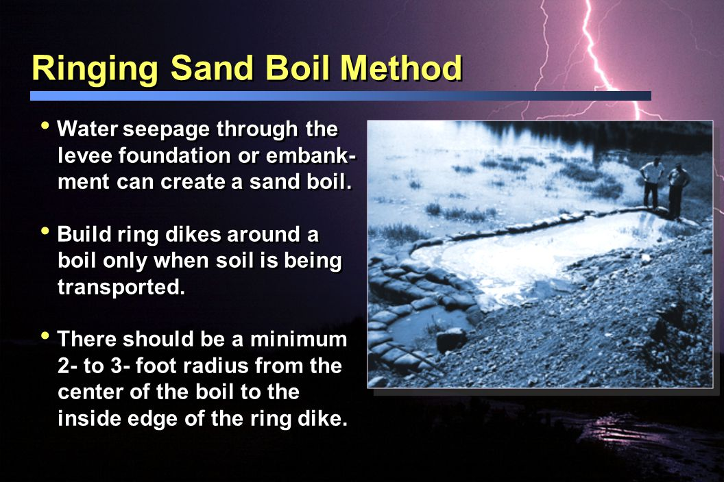 Ringing Sand Boil Method