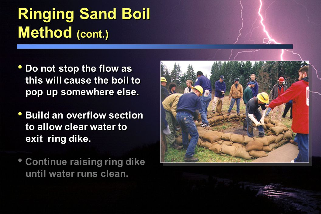 Ringing Sand Boil Method (cont.)