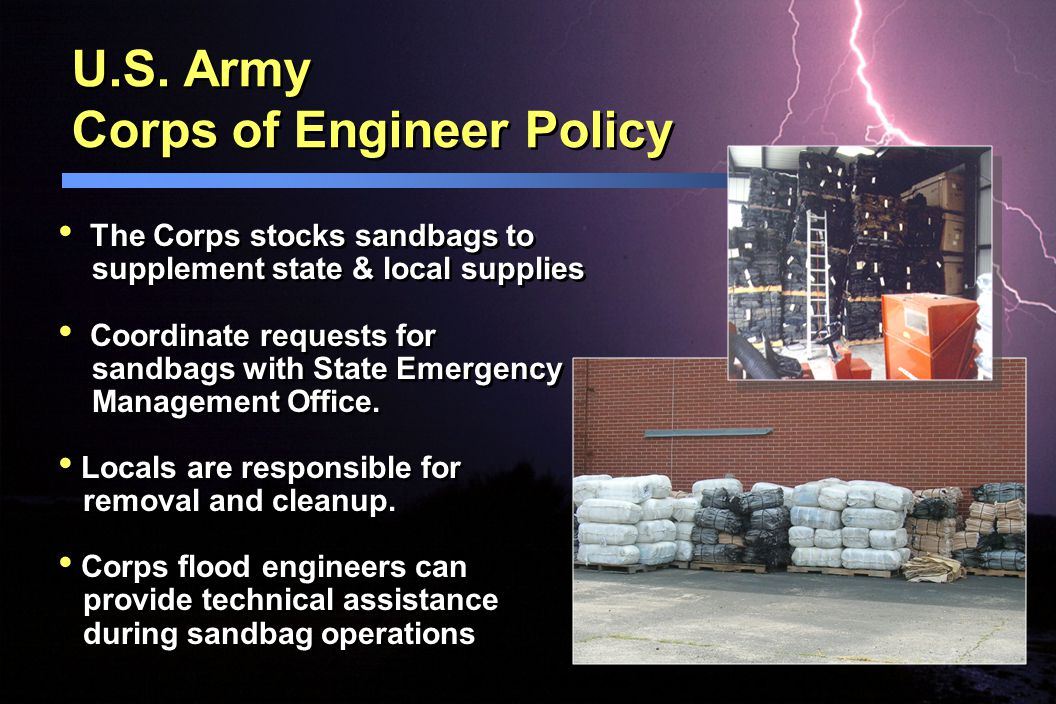 U.S. Army Corps of Engineer Policy