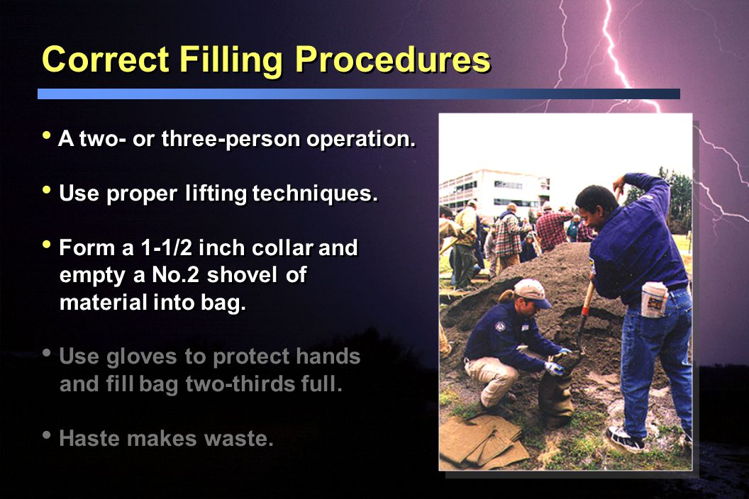 Correct Filling Procedures