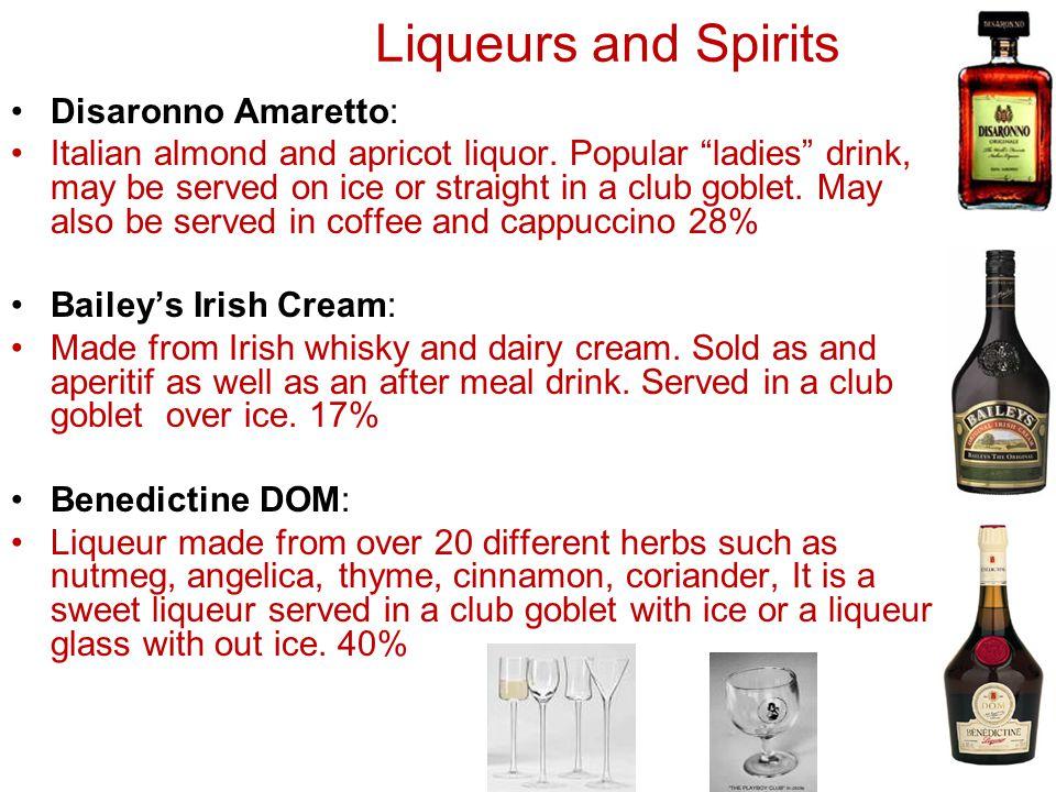 Liqueurs and Spirits Disaronno Amaretto: