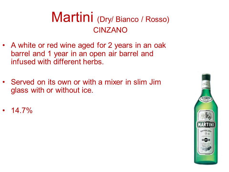 Martini (Dry/ Bianco / Rosso) CINZANO