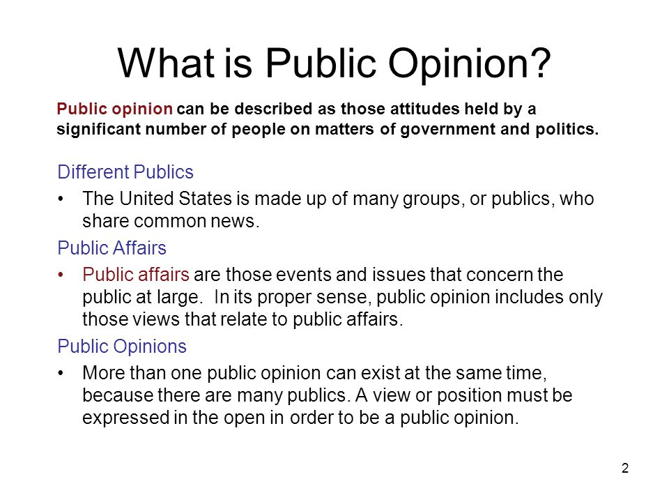 What is Public Opinion Different Publics