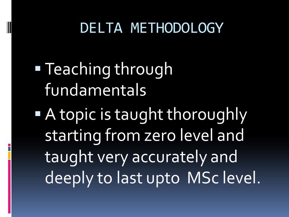 Teaching through fundamentals