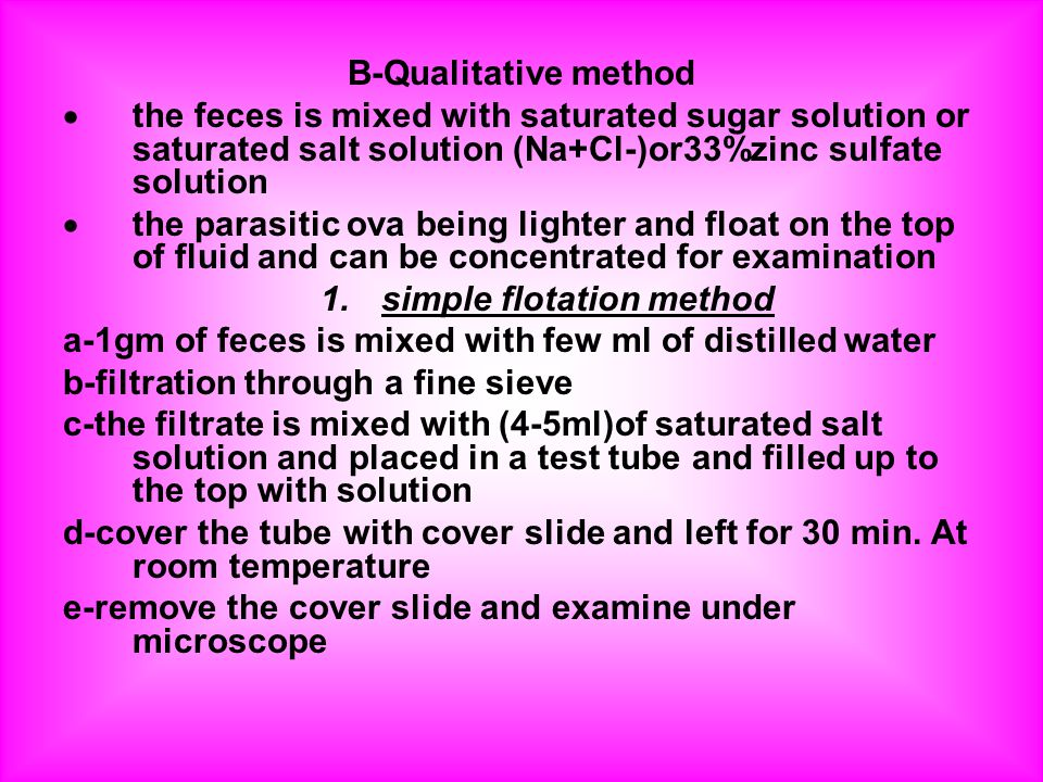 simple flotation method