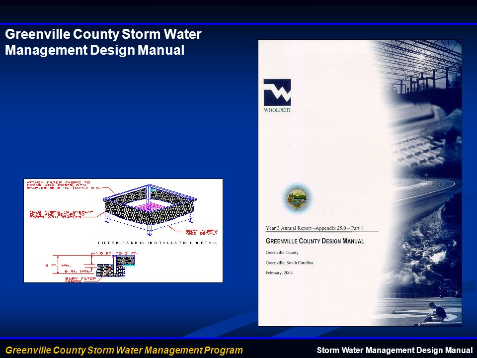 Greenville County Storm Water Management Design Manual