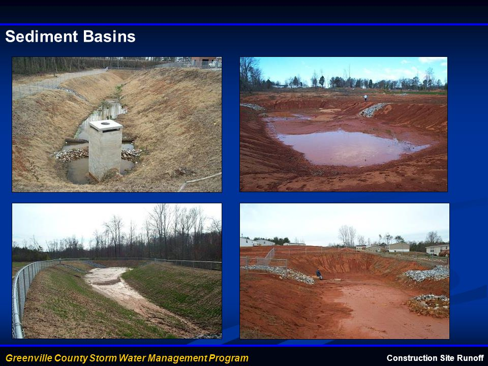 Sediment Basins Construction Site Runoff