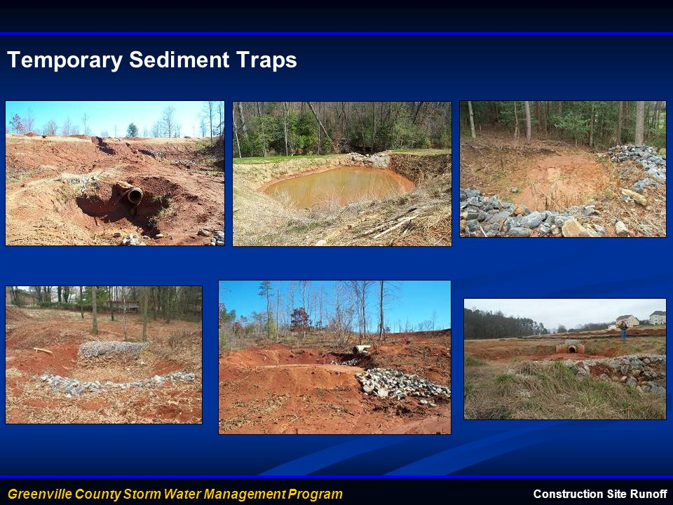 Temporary Sediment Traps