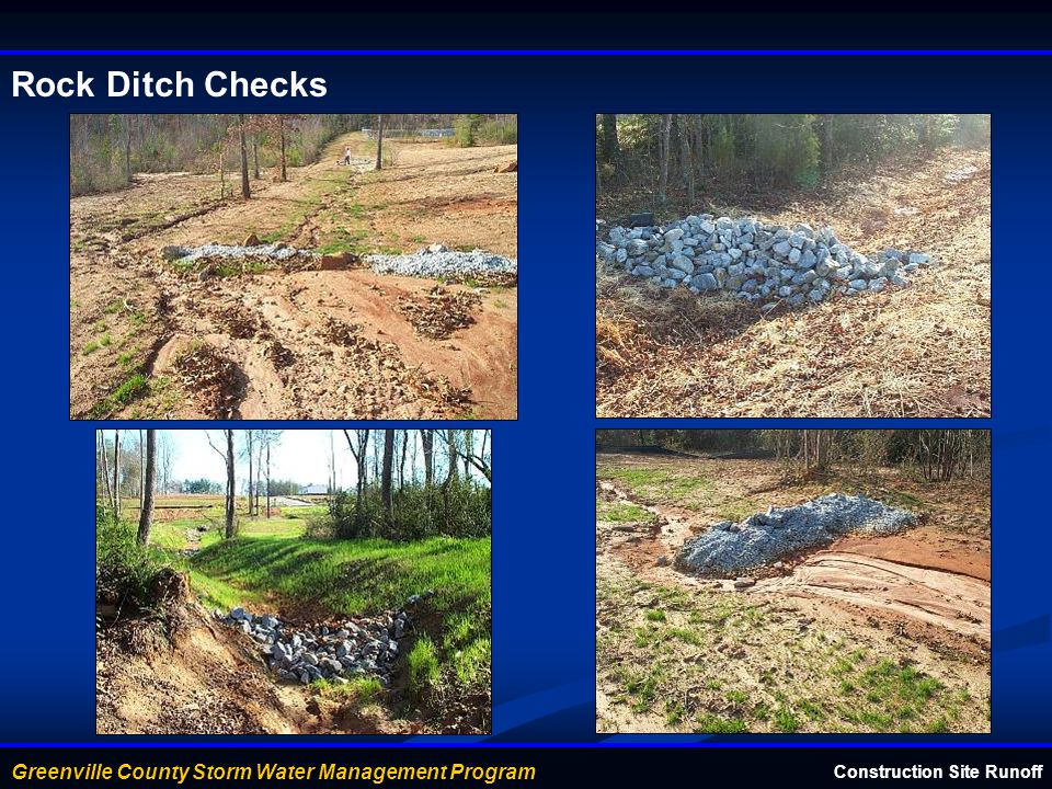Rock Ditch Checks Construction Site Runoff