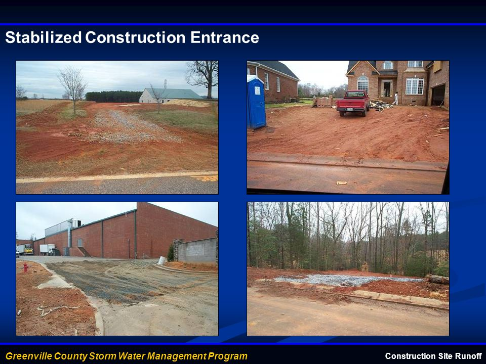 Stabilized Construction Entrance