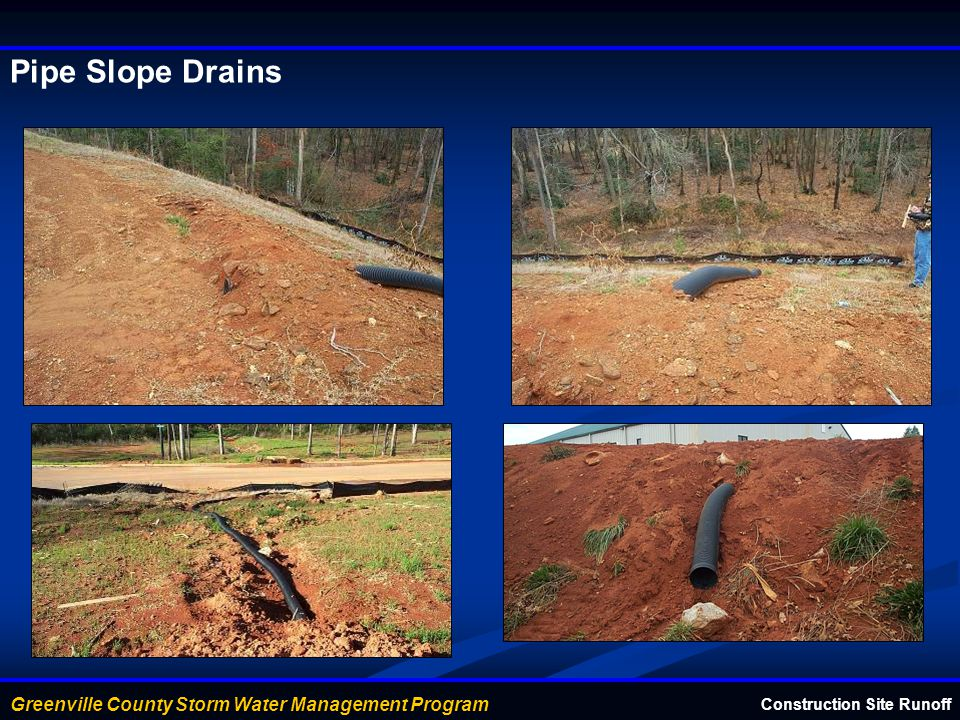 Pipe Slope Drains Construction Site Runoff