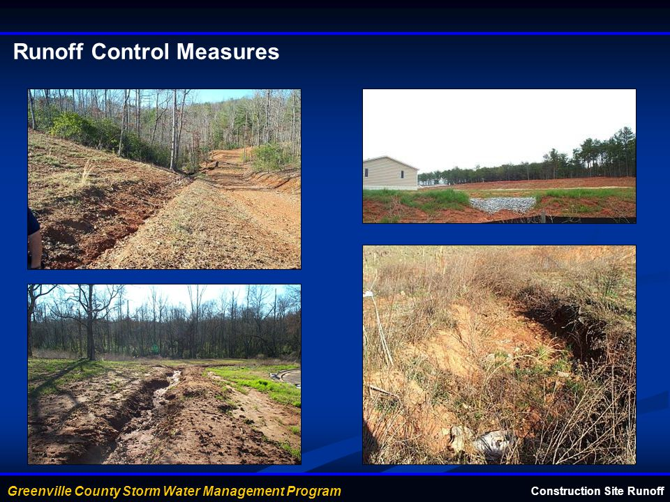 Runoff Control Measures