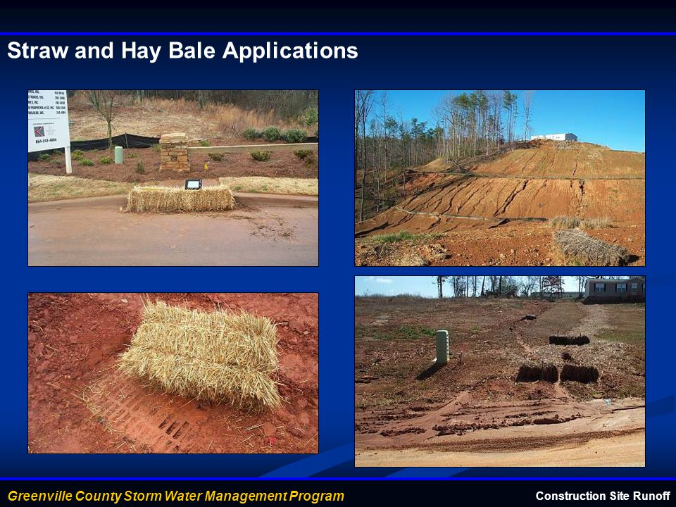 Straw and Hay Bale Applications