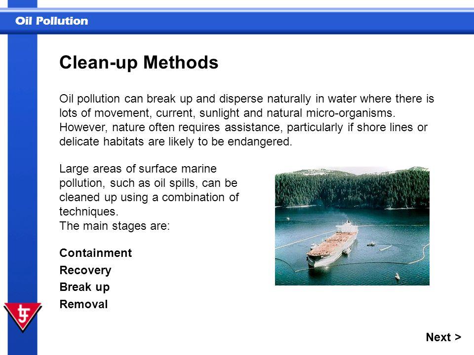 Clean-up Methods