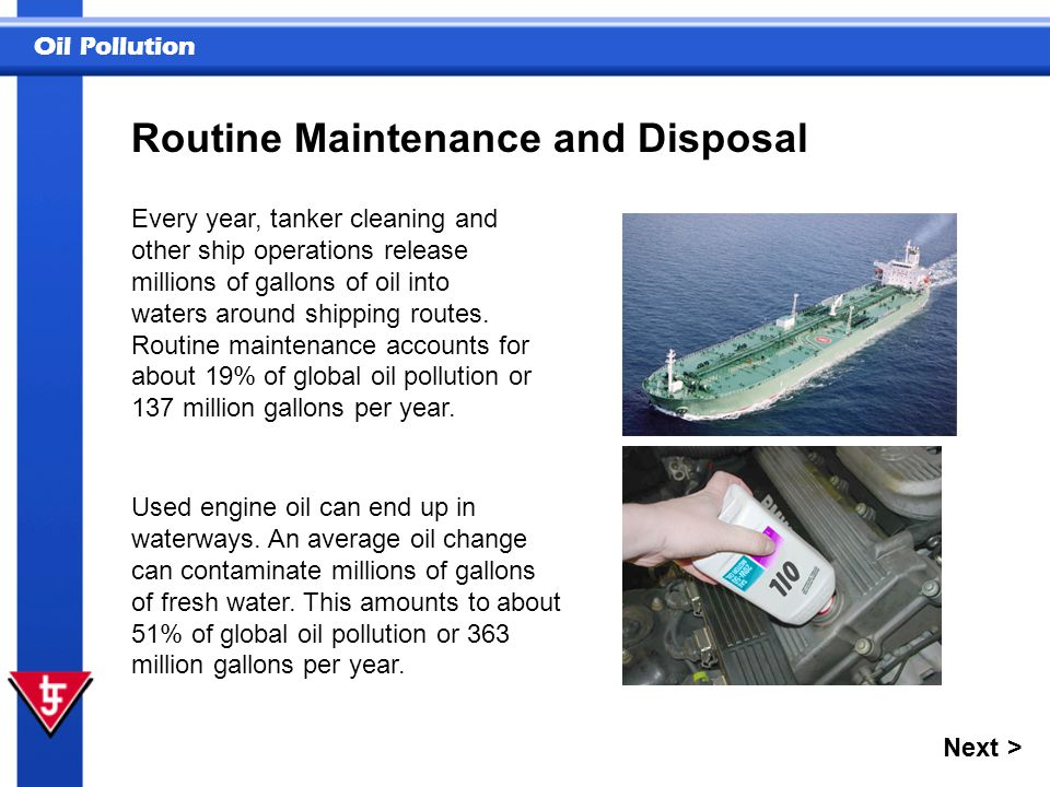 Routine Maintenance and Disposal