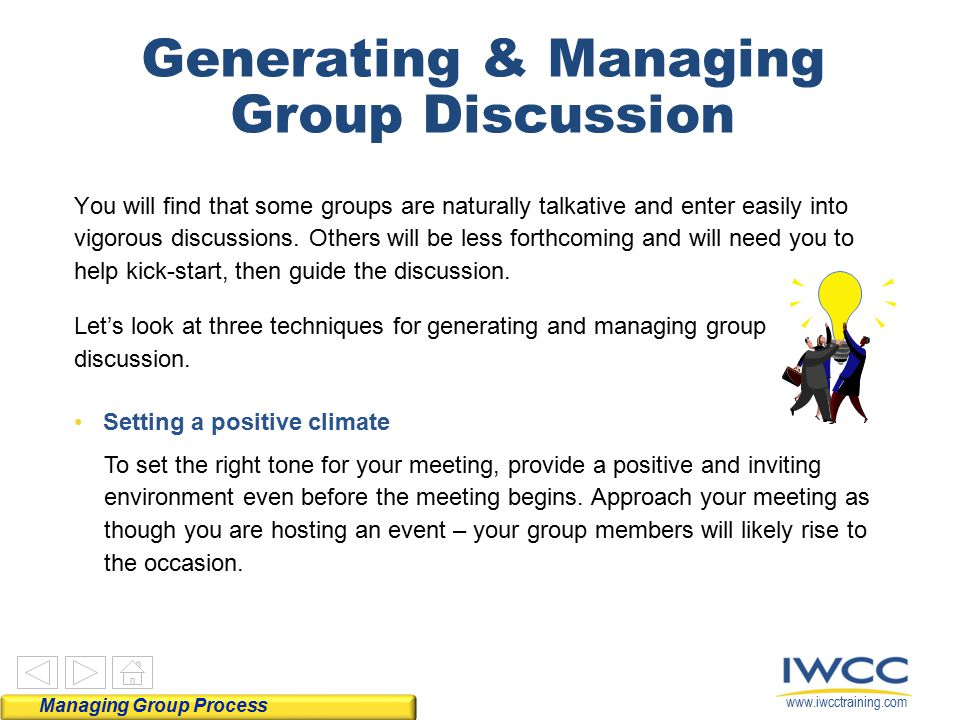 Generating & Managing Group Discussion