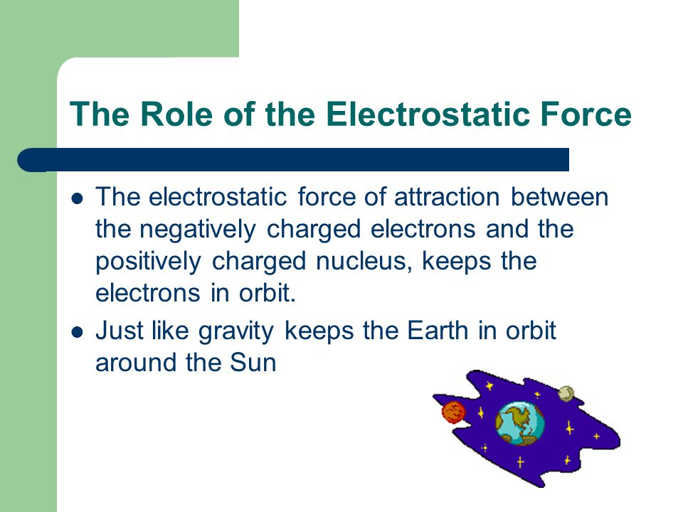 The Role of the Electrostatic Force