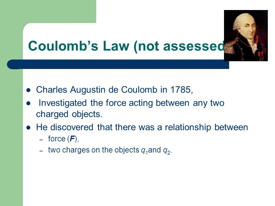 Coulomb's Law (not assessed)