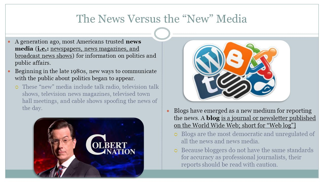 The News Versus the New Media
