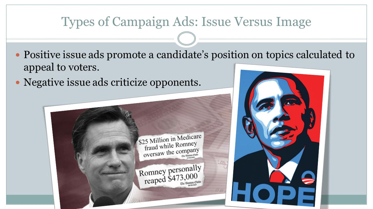 Types of Campaign Ads: Issue Versus Image