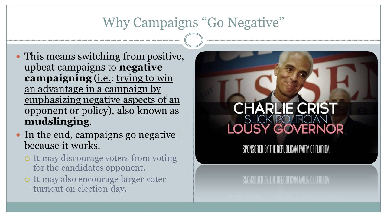 Why Campaigns Go Negative