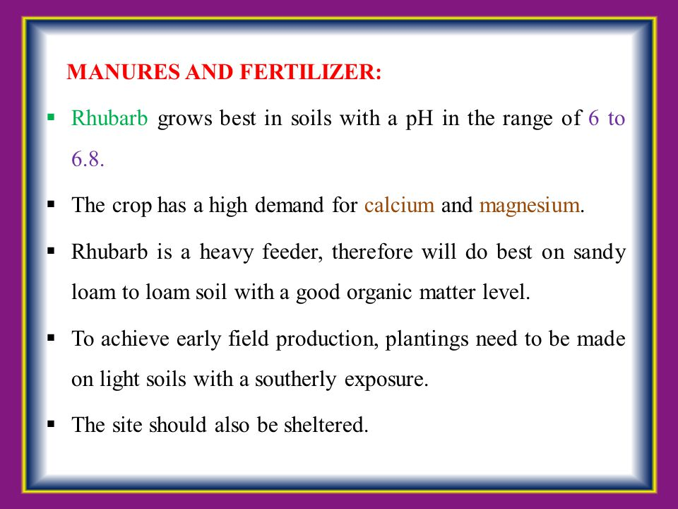 MANURES AND FERTILIZER:
