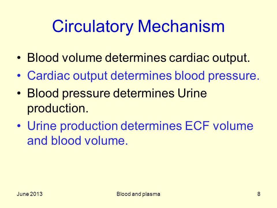 Circulatory Mechanism