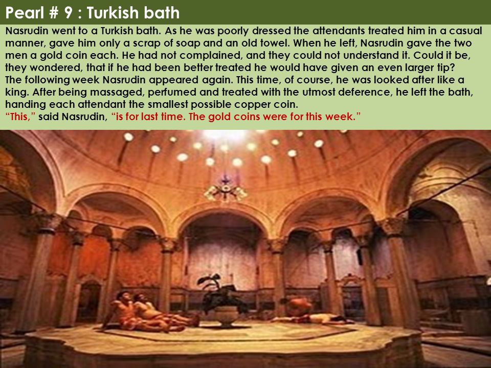 Pearl # 9 : Turkish bath
