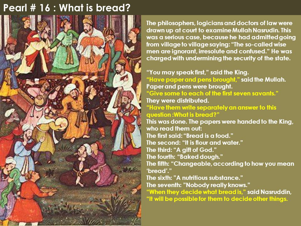 Pearl # 16 : What is bread