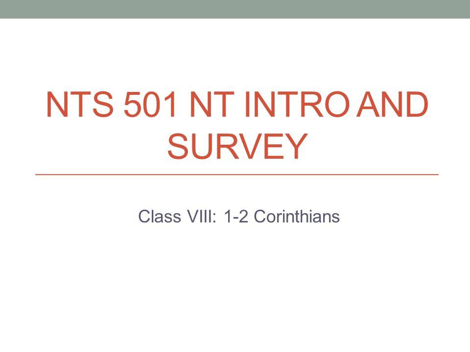 Class VIII: 1-2 Corinthians
