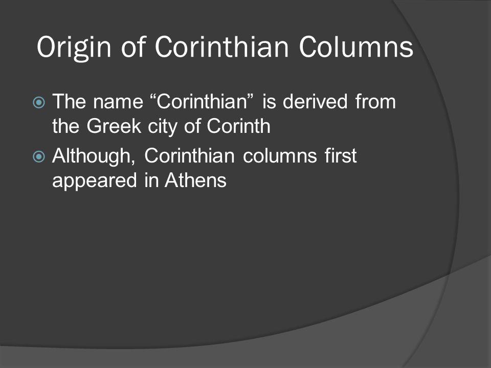 Origin of Corinthian Columns