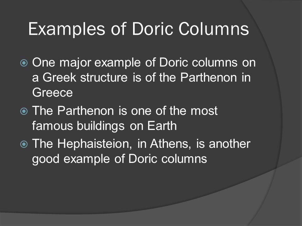Examples of Doric Columns