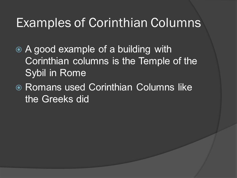 Examples of Corinthian Columns