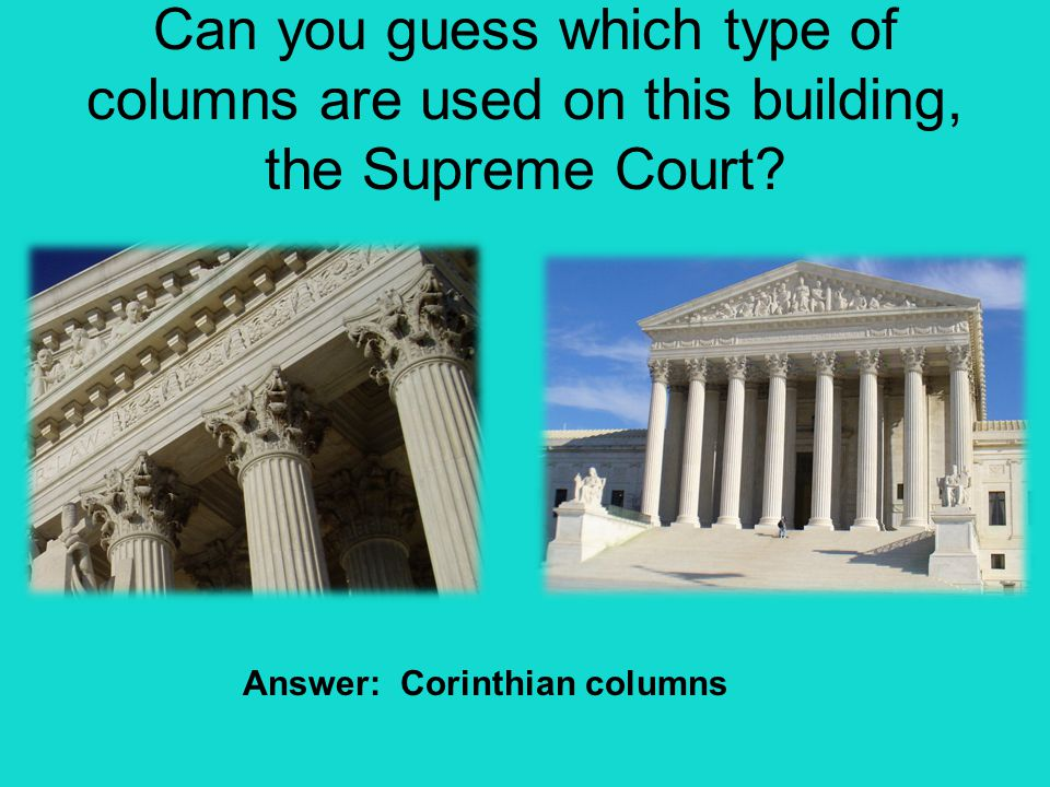 Answer: Corinthian columns
