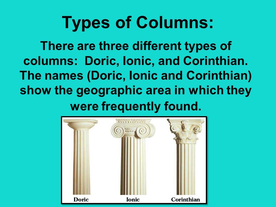 Types of Columns: