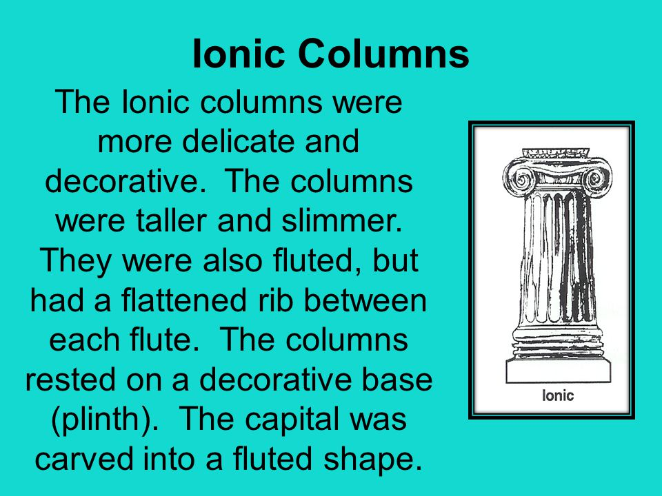 Ionic Columns