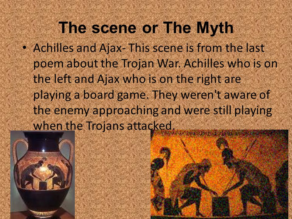 The scene or The Myth